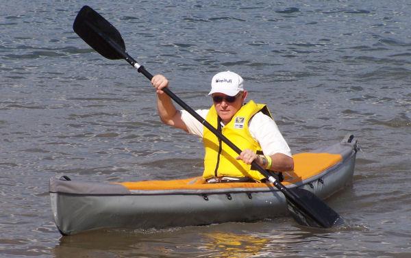 Paddling a Pakboat Saco