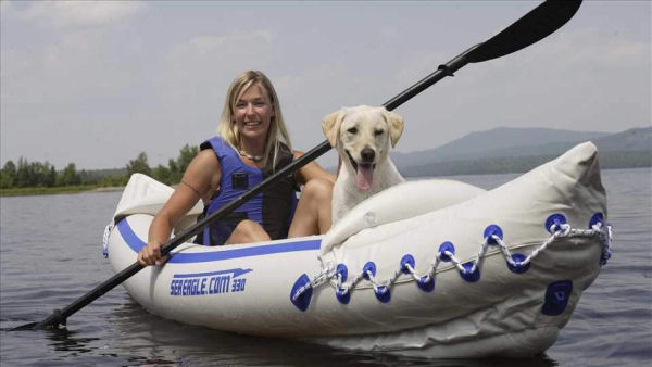 Sea Eagle 330 Paddler & Dog